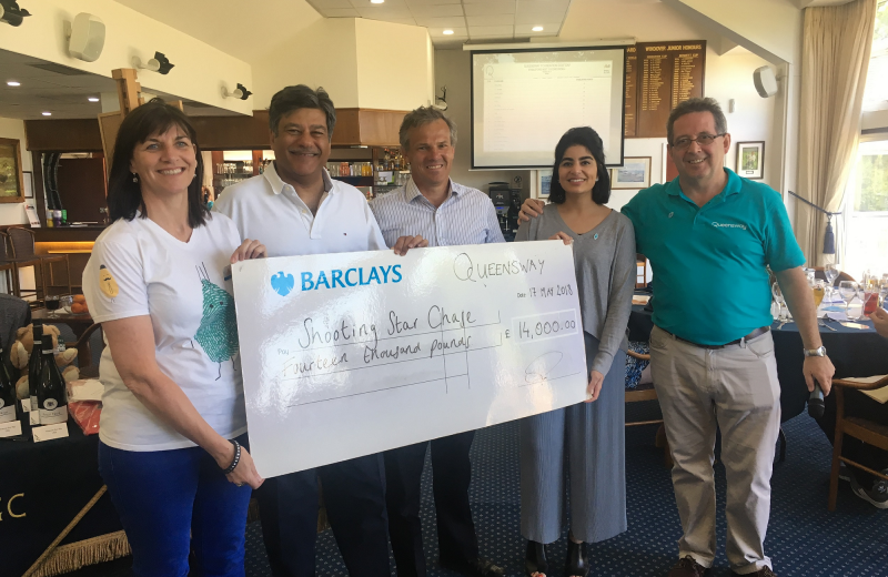 Queensway's first Golf Day raises £14,000 for Shooting Star Chase